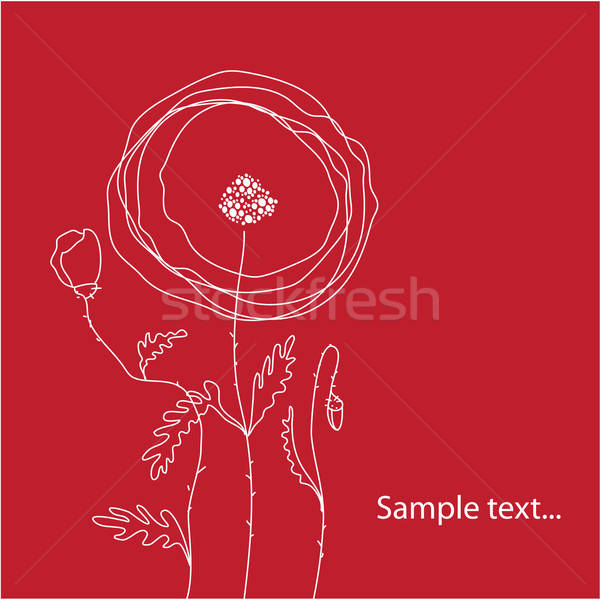 шаблон Поздравляю красный дизайна лист Сток-фото © antoshkaforever