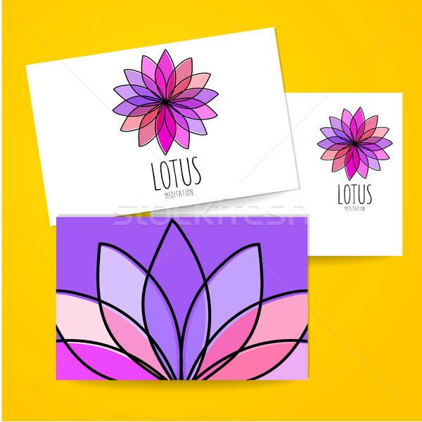 Lotus медитации логотип знак дизайн шаблона комнату Сток-фото © antoshkaforever