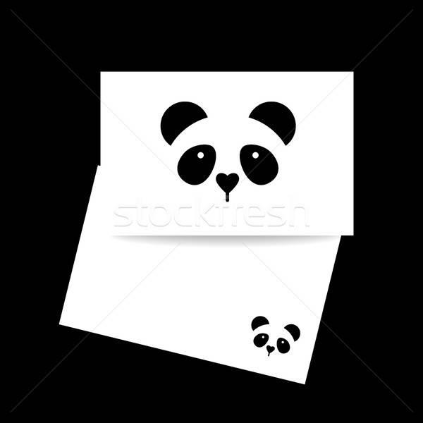 panda bear template Stock photo © antoshkaforever