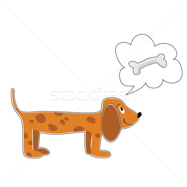 собака искусства весело Живопись мечта Сток-фото © antoshkaforever