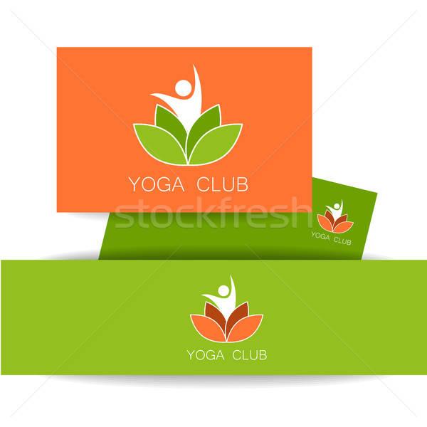 ヨガ ロゴ テンプレート ベクトル デザインテンプレート ストックフォト © antoshkaforever