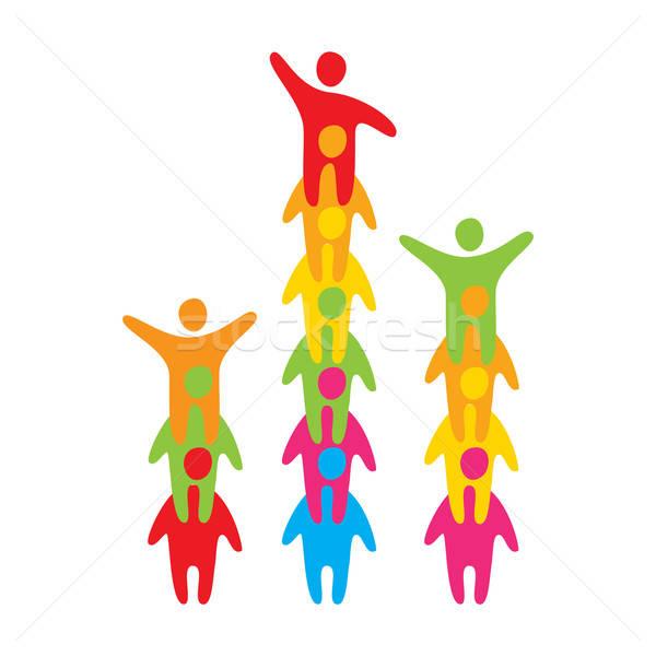 Equipe o melhor realização sucesso feliz assinar Foto stock © antoshkaforever