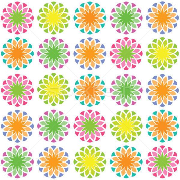 аннотация цветочный шаблон детей синий Живопись Сток-фото © antoshkaforever