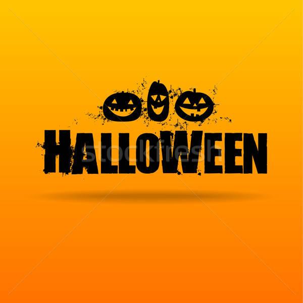 Хэллоуин логотип вектора дизайн шаблона вечеринка счастливым Сток-фото © antoshkaforever