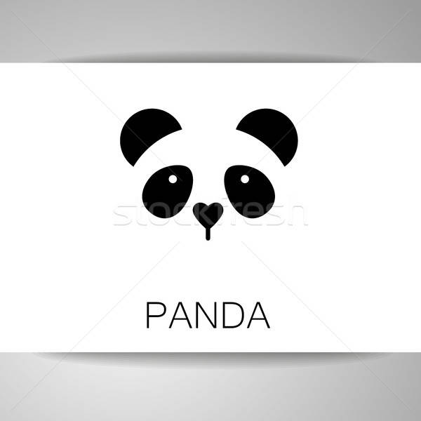 Panda ours modèle logo isolé tête Photo stock © antoshkaforever