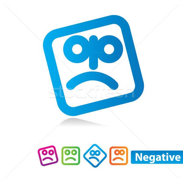 負 情感 集 向量 圖標 因特網 商業照片 © antoshkaforever