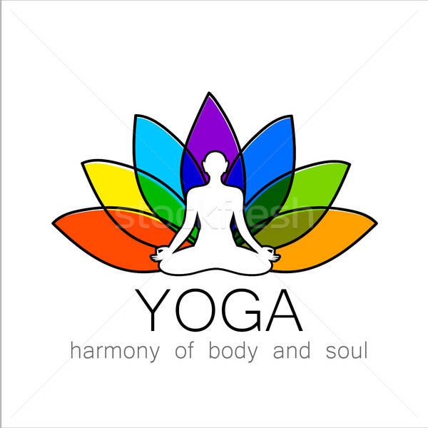 печать йога вектора дизайн логотипа шаблон природы Сток-фото © antoshkaforever