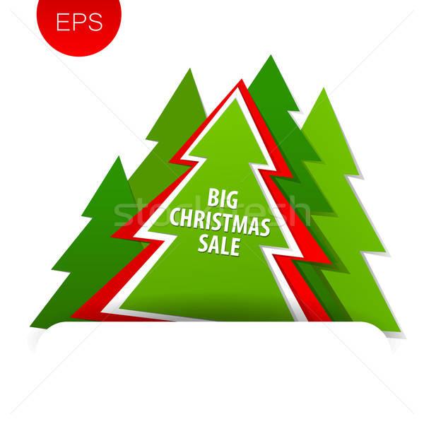 большой Рождества продажи дерево скидка баннер Сток-фото © antoshkaforever