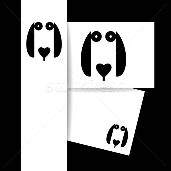Köpek hayvan şablon logo imzalamak kimlik Stok fotoğraf © antoshkaforever