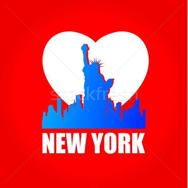 New York New York ufuk çizgisi siluet şablon dizayn Stok fotoğraf © antoshkaforever