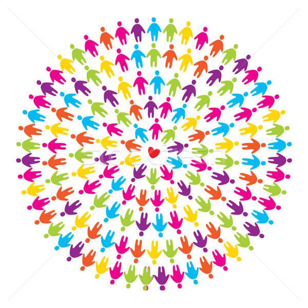 にログイン 愛 平和 友情 保存 世界 ストックフォト © antoshkaforever