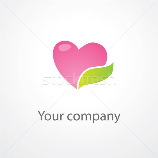 шаблон компания бизнеса компьютер зеленый Сток-фото © antoshkaforever
