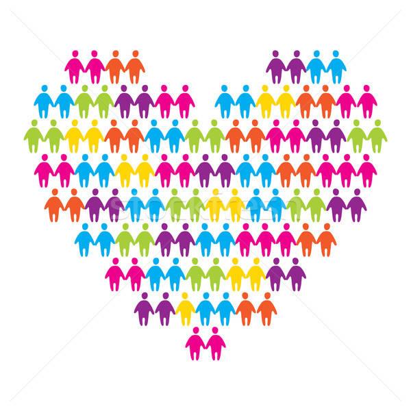 Emblema amor coração casais mulheres projeto Foto stock © antoshkaforever