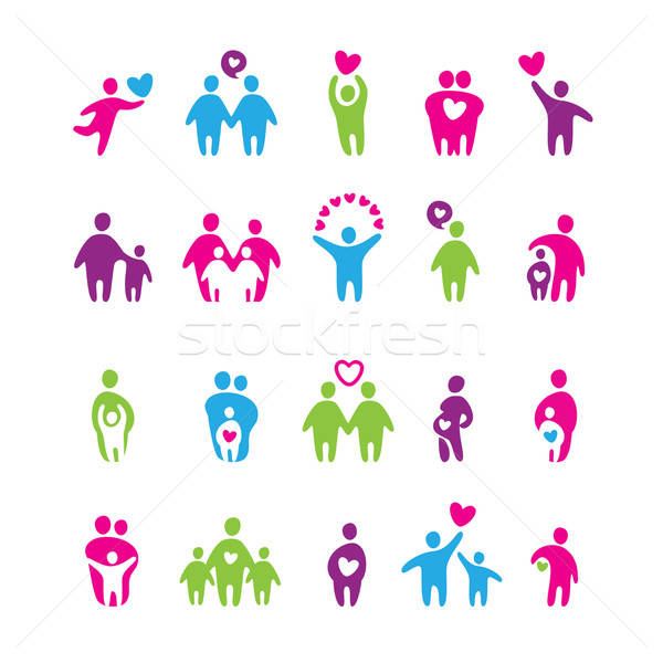 icons-love-family Stock photo © antoshkaforever