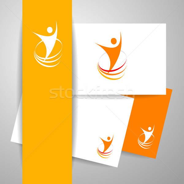 успех энергии шаблон логотип символ победителем Сток-фото © antoshkaforever