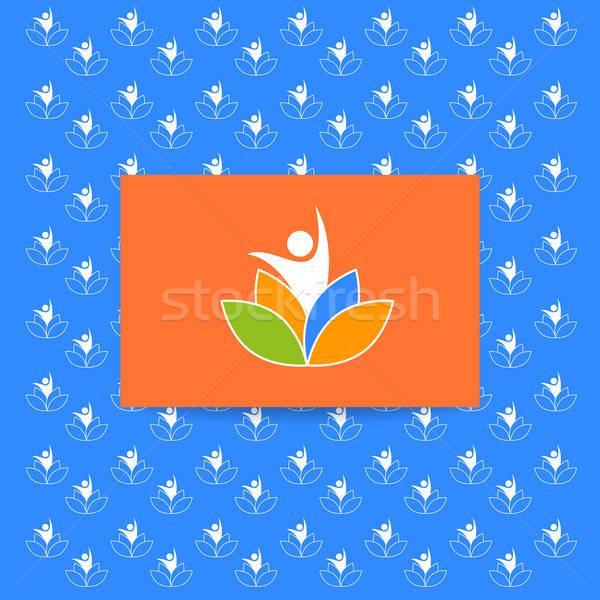 ヨガ ロゴ テンプレート パターン ベクトル デザインテンプレート ストックフォト © antoshkaforever
