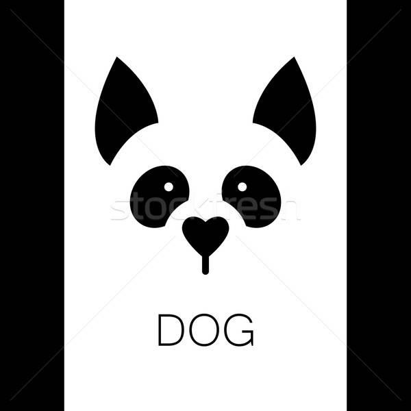 Köpek hayvan şablon logo imzalamak örnek Stok fotoğraf © antoshkaforever
