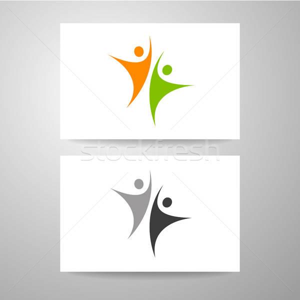 éxito equipo plantilla logo tarjeta de visita diseno Foto stock © antoshkaforever