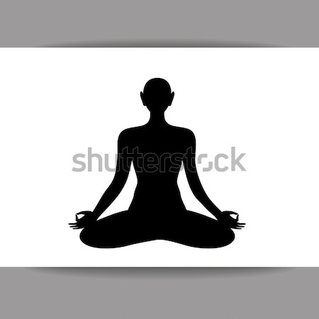Ioga logotipo espiritual desenvolvimento modelo projeto Foto stock © antoshkaforever