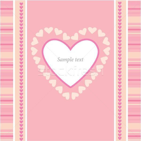 Quadro parabéns amor projeto beleza silhueta Foto stock © antoshkaforever