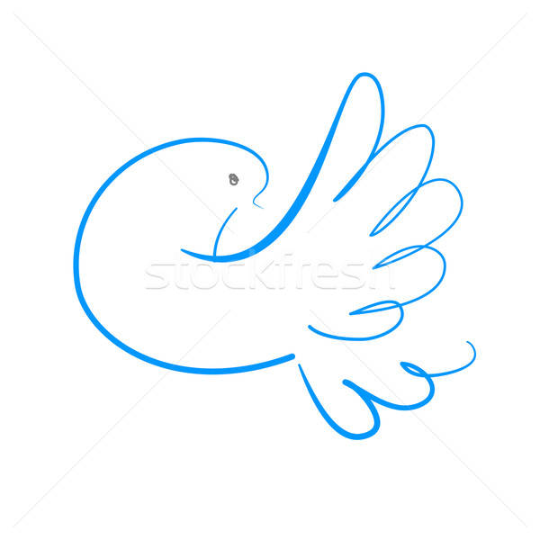 мира голубя символ Мир лист красоту Сток-фото © antoshkaforever