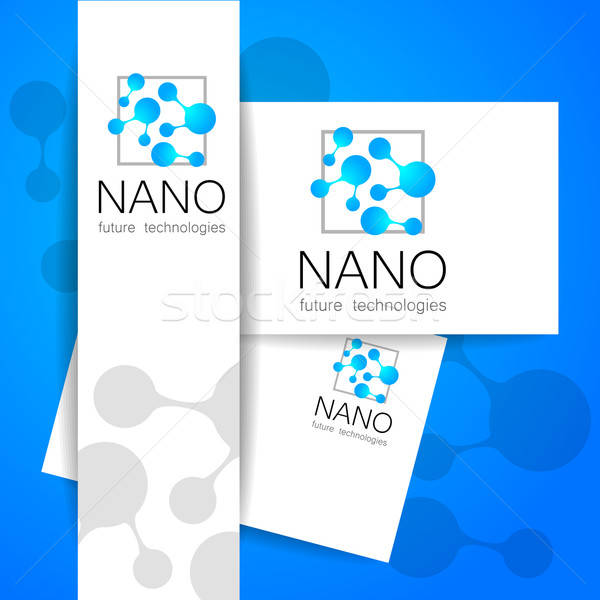 Nano logo nanotechnológia sablon terv vektor Stock fotó © antoshkaforever