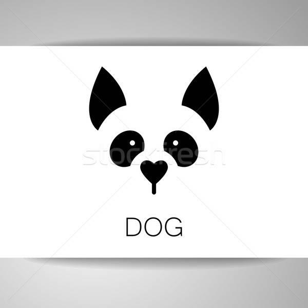Köpek hayvan şablon imzalamak örnek fikir Stok fotoğraf © antoshkaforever