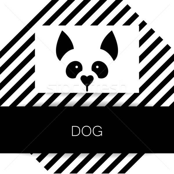 Kutya állat sablon logoterv illusztráció ötlet Stock fotó © antoshkaforever