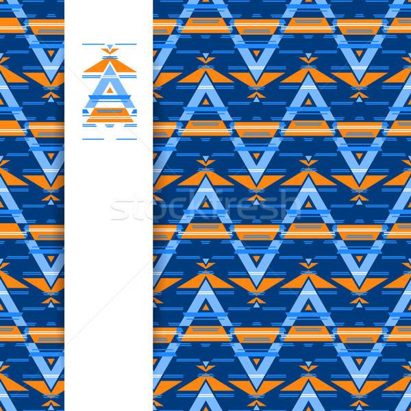 Kisebbségi absztrakt minta sablon terv végtelen minta Stock fotó © antoshkaforever