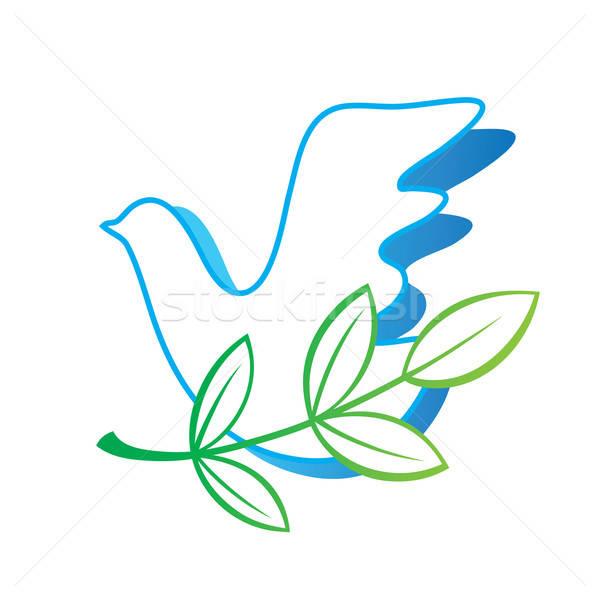 Szimbólum béke galamb szeretet terv levél Stock fotó © antoshkaforever