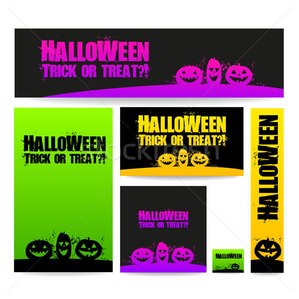 Хэллоуин баннер Баннеры вектора дизайна Сток-фото © antoshkaforever