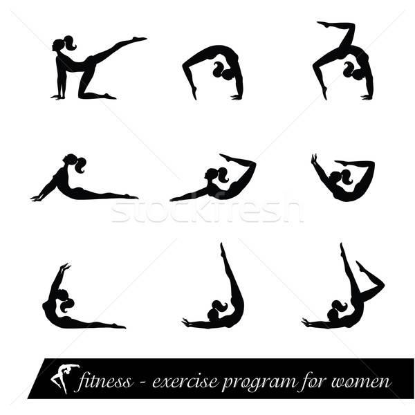 健身 行使 節目 婦女 身體 體育 商業照片 © antoshkaforever