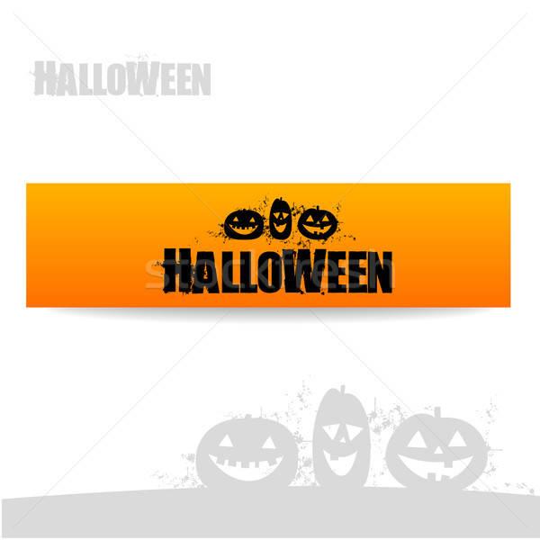 Хэллоуин баннер вектора дизайн шаблона вечеринка счастливым Сток-фото © antoshkaforever