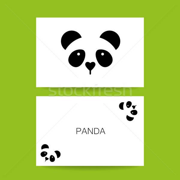 Panda ours modèle carte d'identité design idée Photo stock © antoshkaforever