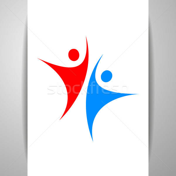 успех команда шаблон логотип человека характер Сток-фото © antoshkaforever