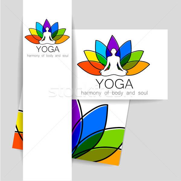 йога логотип вектора шаблон корпоративного личности Сток-фото © antoshkaforever