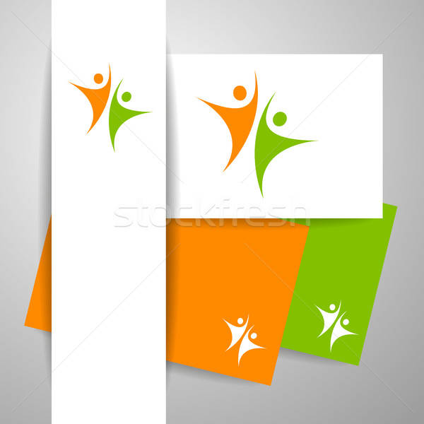 успех команда шаблон логотип личности бизнеса Сток-фото © antoshkaforever