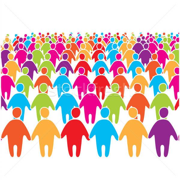 большой толпа многие цветами социальной люди Сток-фото © antoshkaforever