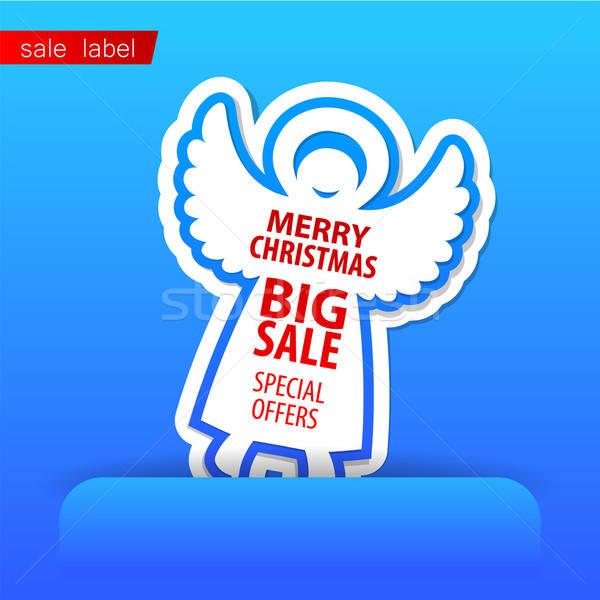 Alegre Navidad venta vector plantilla compras Foto stock © antoshkaforever