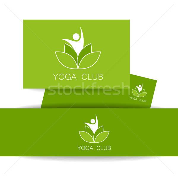 ヨガ ロゴ テンプレート ベクトル デザインテンプレート アイデンティティ ストックフォト © antoshkaforever