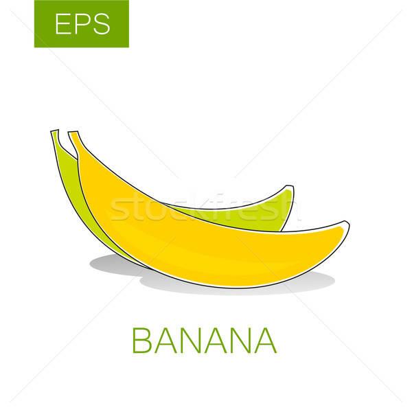 香蕉 向量 簽署 水果 標籤 主意 商業照片 © antoshkaforever