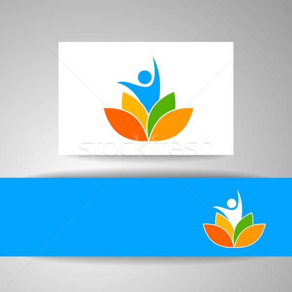 Yoga logo şablon vektör tasarım şablonu sağlık Stok fotoğraf © antoshkaforever