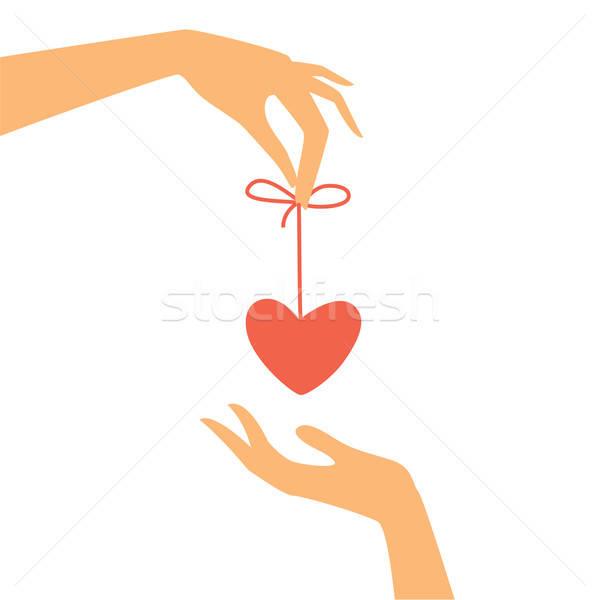 Поздравляю день любителей сердце подарок стороны Сток-фото © antoshkaforever