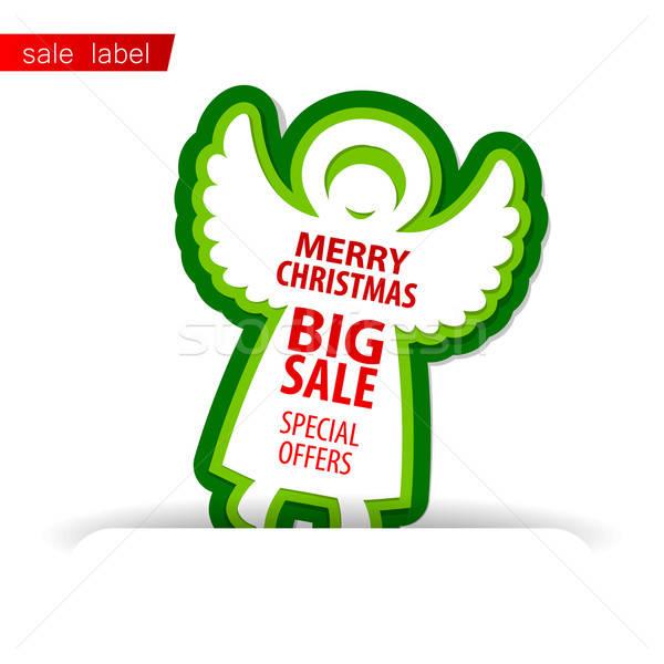 веселый Рождества продажи вектора шаблон торговых Сток-фото © antoshkaforever