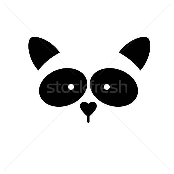 енот животного шаблон логотип изолированный голову Сток-фото © antoshkaforever