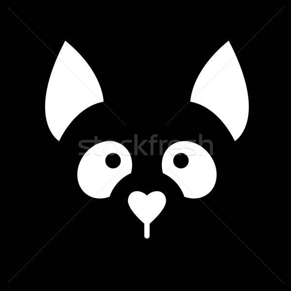 Stok fotoğraf: Köpek · hayvan · şablon · imzalamak · örnek · fikir