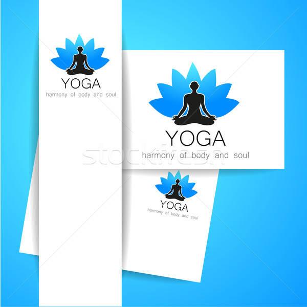 Foto stock: Ioga · logotipo · vetor · modelo · corporativo · identidade