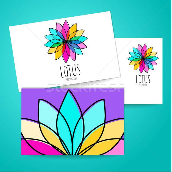 Loto meditación logo signo plantilla de diseño habitación Foto stock © antoshkaforever