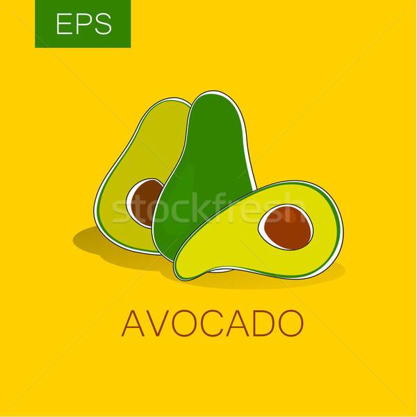 Avokado vektör imzalamak etiket fikir paketleme Stok fotoğraf © antoshkaforever