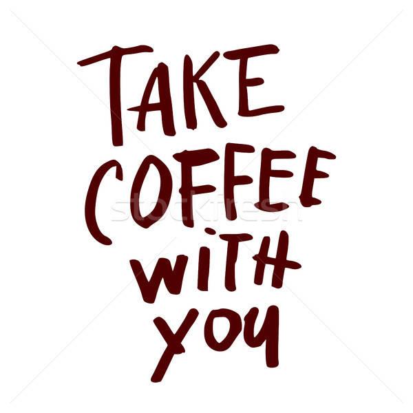 кофе кавычки стороны написанный дизайна Сток-фото © antoshkaforever